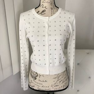 NWT Forever 21 Ivory Studded Button Front Cardigan